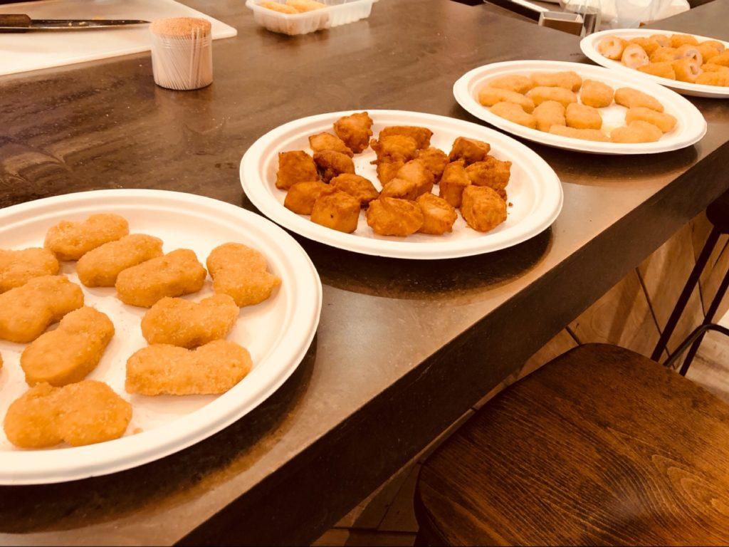 秋川牧園の冷凍食品。チキンナゲット、からあげなど