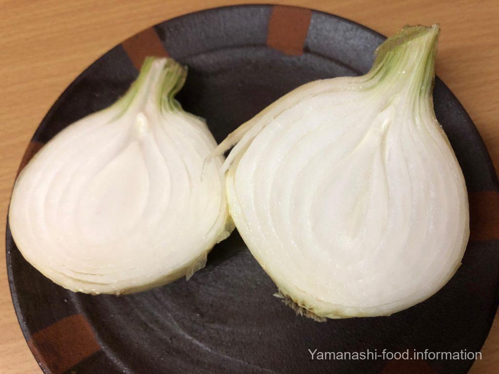 秋川牧園の無農薬野菜・玉ねぎの断面